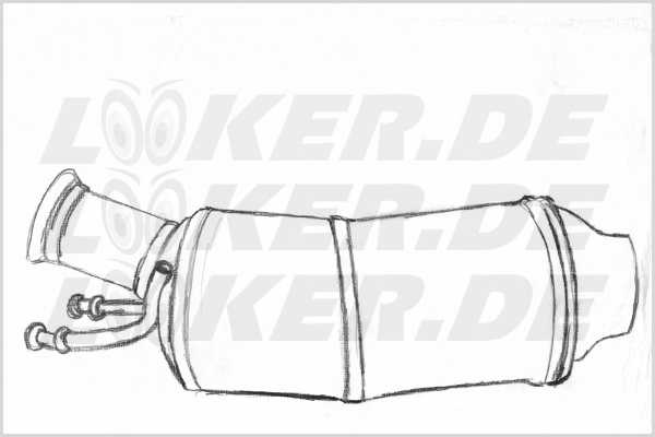 Diesel particulate filter (DPF) Mercedes 191 - 5XL Class